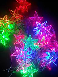 7 Farben leuchtende romantische Weihnachtsfestivaldekoration Sternlicht-LED-Lampe-String