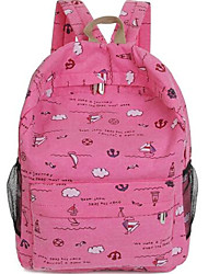 Women Canvas Sling Bag Backpack - Pink / Blue / Green / Brown / Red