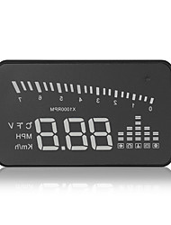 x5 hud universal de cabeza up pantalla km / h mph interfaz obdii detector coche combustible acelerando proyecto parabrisas advertencia