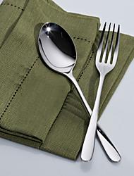 2pcs dongjin®simple fixés cuillère à soupe * 1 + fourchette de table * 1 18/10 importé en acier inoxydable