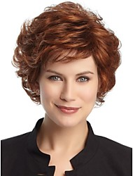 Capless Short High Quality Synthetic Natural Brown Wine Straight Hair Wig