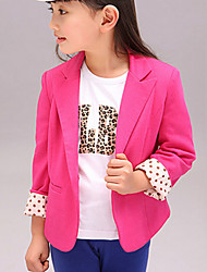 Girl's Solid Suit & Blazer,Cotton Blend Spring / Fall Red / Yellow