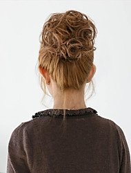2015 nueva moda bollo sintética elástica novia pelo moño cabello de Hepburn rodillo postizos de pelo bollo sintética