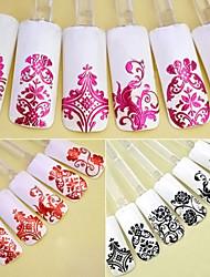 1PCS  Fashion 108pcs 3D DIY Flower Design Nail Art Stickers Flower Manicure Tips Decals