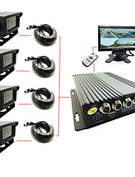 Four Car Cassette 4-way SD Truck Car Video Recorder High-definition Monitor Host D1 logistics Car Bus Travel Video DVR
