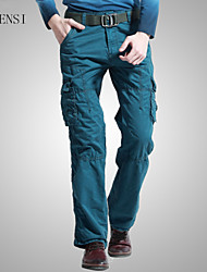 The new spring and summer 2015 men and more men fashion casual pants pocket jeans cotton slacks