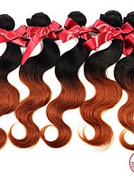 """evet um monte peça 8 """"-28"""" # # 30 1BT peruano corpo cabelo virgem onda dois tons ombre pacotes de tecelagem de cabelo humano"""