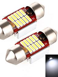 YOBO 4W 320LM Festoon 31MM 10*4014 LED White Light for Car Steering Light Bulb / Reading Lamp - (2 PCS /DC 12-24V)