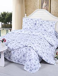 Little Flower Print Cotton Bedding Set 4-Piece