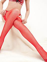Qibi Large mesh long tube net socks
