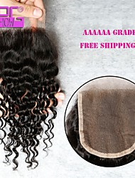 Hot Selling 8-20inch In Stock High Quality Brazilian Human Hair Lace Closure With Baby Hair