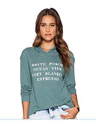 T-Shirt Da donna Floreale Rotonda Manica lunga Cotone