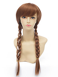 Long Hair Wigs Brown Pigtails Wig Europe And The United States A Wig