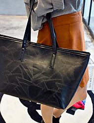 Women PU Weekend Bag Shoulder Bag - Gold / Black