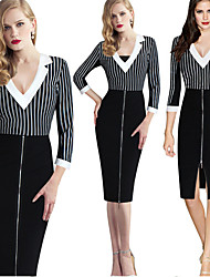 Milliya Women's Vintage/Sexy/Casual/Party 1950S Pencil Dresses (Cotton Blend)