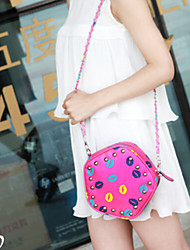 Lady's Fashion Retro Color Lip Printing   Small Single  Shoulder  Package