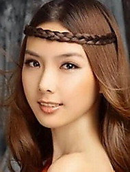 Korean Wig Braided Hair Bands Stretch Headband