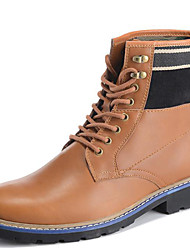 Men's Shoes Outdoor / Athletic / Casual Leather Boots Brown / Taupe