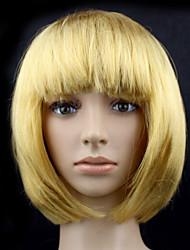 Sweet Girl Bob Blonde Synthetic Fiber Women's Halloween Party Wig