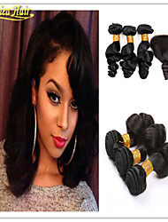 4 Pcs/Lot 8A Brazilian Virgin Hair With Closure Loose Wave Human Hair Weft With Closure Hair Weft With Closure