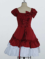 Cotton Short Sleeves Ruffle Bow Classic Lolita Dress