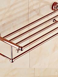 Bathroom Shelf ,Bath towel holder, Neoclassical Rose Gold Wall Mounted