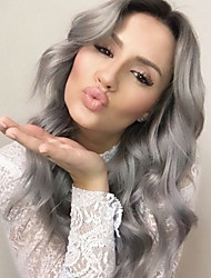 "18""-24""Human Hair Lace Wigs Brazilian Virgin Hair Grey Full Lace Wig Unprocessed Lace Front Wigs 130% Density In Stocks"