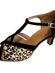 Zapatos de baile ( Leopardo ) - Danza latina / Salsa - Personalizados - Tacón Personalizado