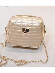 Women PU Sling Bag Shoulder Bag - White / Gold / Silver / Black