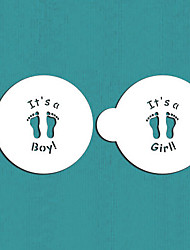 It's a Boy/Girl Cookie Top, Cupcake Stencil, Stencil for Cake Decorating,Cookie Stencil,ST-496