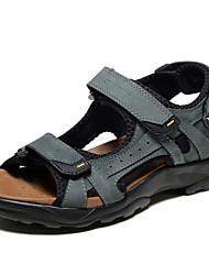 Sandales homme printemps été confort automne nappa cuir bureau extérieur&Robe de carrière casual light brown gray water shoes