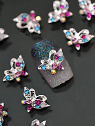 5pcs  Butterfly Metal Nail Jewelry