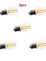 5pcs G45 4w e27 400lm 360 градусов теплый / холодный белый цвет Edison света с лампой накаливания светодиодные лампы накаливания (AC85-265V)