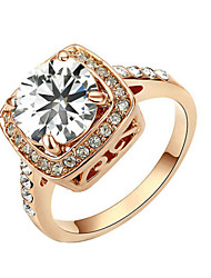 Ring Women's Cubic Zirconia Alloy Alloy 6 / 7 / 8 / 9 Gold / Silver