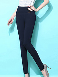 Women's Solid Blue / Red / White / Black Skinny Pants , Sexy / Bodycon / Casual