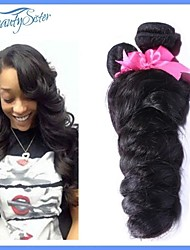 Unprocessed 7A Peruvian Virgin Human Hair Weaves 2PCS Lot Natural Color
