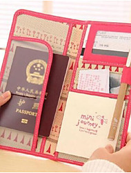 Leather ID Card Passcard Passport Holder Holders Bag Travel Passport Cover Case