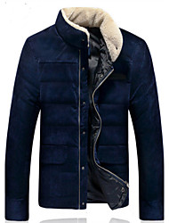 Men's Hoodie Coats & Jackets , Cotton Blend Long Sleeve Casual Pocket Winter YS