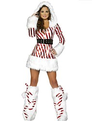 Performance Women's Christmas Lady Costume(dress+belt+legwarm)