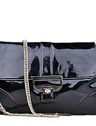 L.WEST® Women's Cowhide Flap Shoulder Bag / Tote - Gold