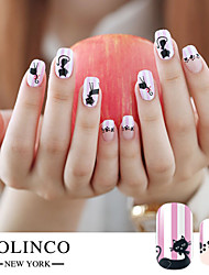 20PCS New Cartoon Warm Color Nail Art Stickers Set