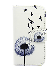 For Nokia Case Wallet / Card Holder / with Stand Case Full Body Case Dandelion Hard PU Leather Nokia Nokia Lumia 635