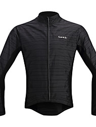 SANTIC Cycling Rain Jacket/Waterproof jacket/Wind Jacket/Raincoat  Long-Sleeve Black