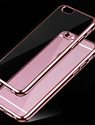 Para Funda iPhone 6 Cromado / Transparente Funda Cubierta Trasera Funda Un Color Suave TPU iPhone 7 Plus / iPhone 7 / iPhone 6s/6