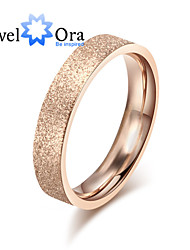 Ring Fashion Party Jewelry Steel Women Band Rings 1pc,One Size Rose Gold