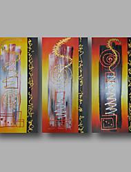 pintura a óleo pintados à mão sobre a arte da parede da lona contempory abstratos vermelho dourado casa deco três painel pronto para