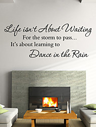 Wall Stickers Wall Decals Style Life Isn't Baout English Words & Quotes PVC Wall Stickers