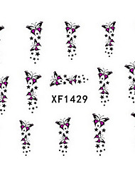 1 PCS 3D Water Transfer Printing Nail Stickers XF1429