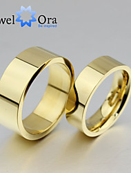 Ring Fashion Party Jewelry Gold Plated / Steel Women Band Rings 1pc,One Size Gold