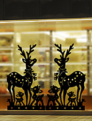 Window Stickers Window Decals Style New Christmas Deer Window Glass Decoration PVC Window stickers